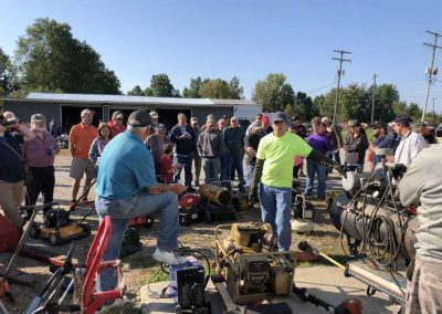 Tools being sold at auction