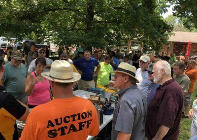 Auctioneer describing items
